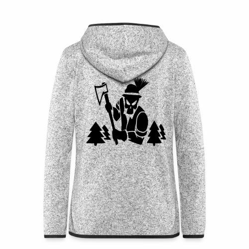Holzfäller - Frauen Kapuzen-Fleecejacke