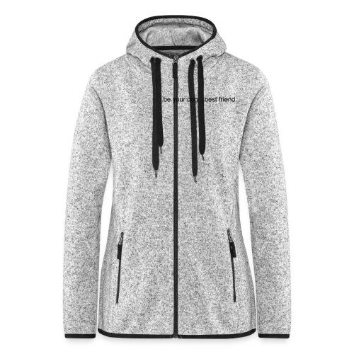 GoodBad svart CMYK (1) - Women's Hooded Fleece Jacket
