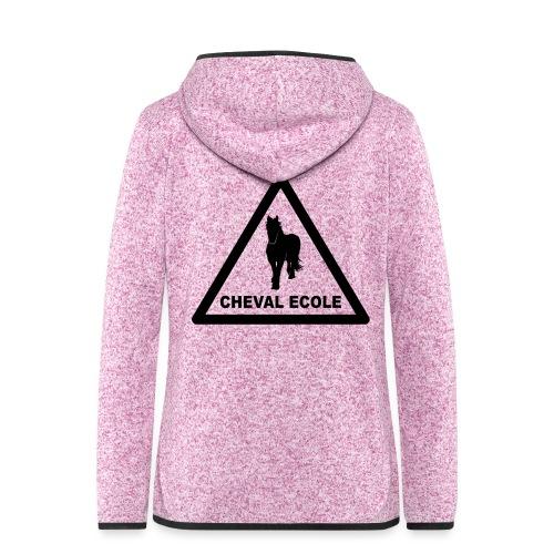 chevalecoletshirt - Veste à capuche polaire pour femmes