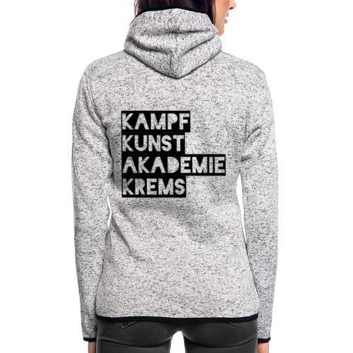KKA 2016 lifestyle back2 - Frauen Kapuzen-Fleecejacke