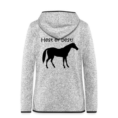 hest er best - Hette-fleecejakke for kvinner