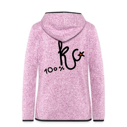 100%KC - Vrouwen hoodie fleecejack