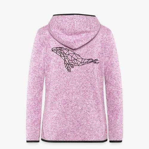 whale - Giacca di pile con cappuccio da donna