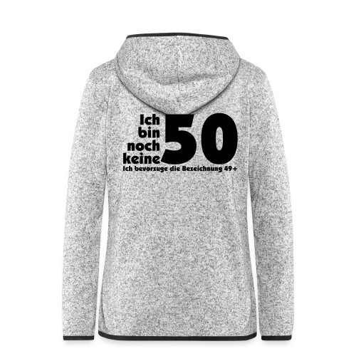 50 Jahre alt/jung - Frauen Kapuzen-Fleecejacke