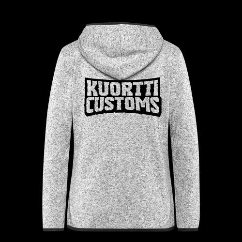 kuortti_customs_logo_main - Naisten hupullinen fleecetakki