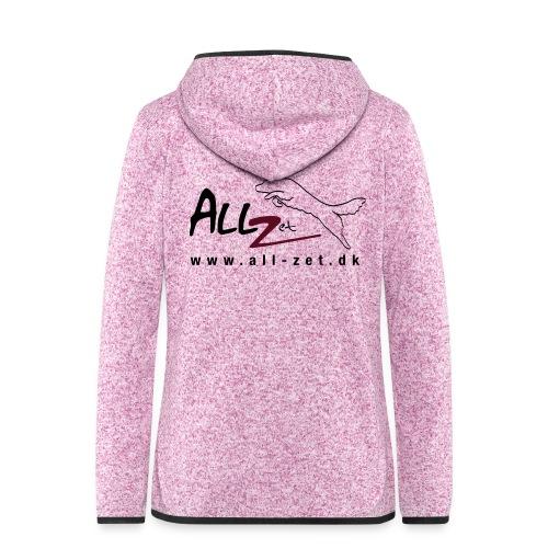All Zet Logo - Dame hætte-fleecejakke