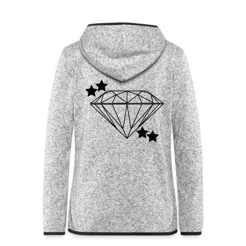 Diamant - Frauen Kapuzen-Fleecejacke