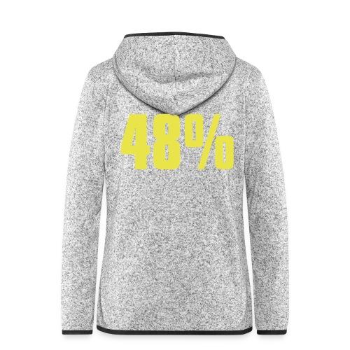 48% - Women's Hooded Fleece Jacket