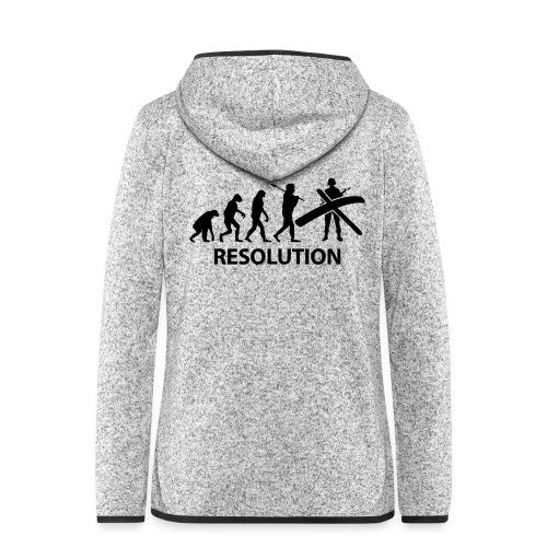 Resolution Evolution Army - Women's Hooded Fleece Jacket