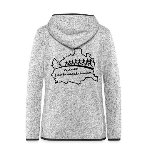 Laufvagabunden T Shirt - Frauen Kapuzen-Fleecejacke