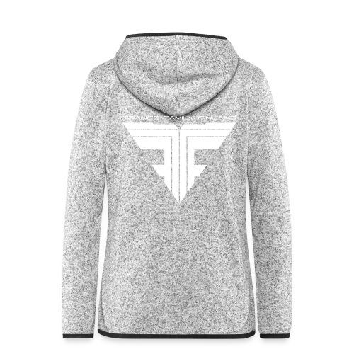 TFF Logo White - Naisten hupullinen fleecetakki
