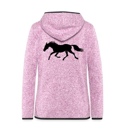 Cavallo - Giacca di pile con cappuccio da donna