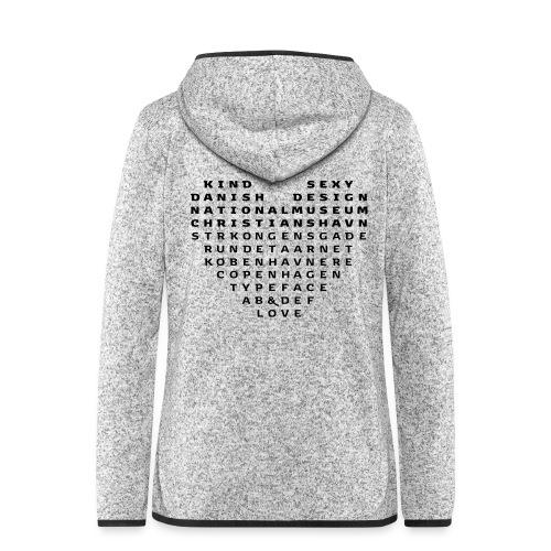 Copenhagen Heart - Dame hætte-fleecejakke