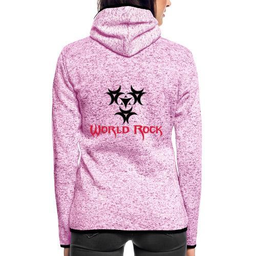 Motif World Rock - Veste à capuche polaire pour femmes