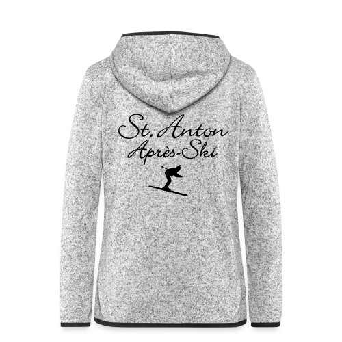 St. Anton Après-Ski Skifahrer - Frauen Kapuzen-Fleecejacke