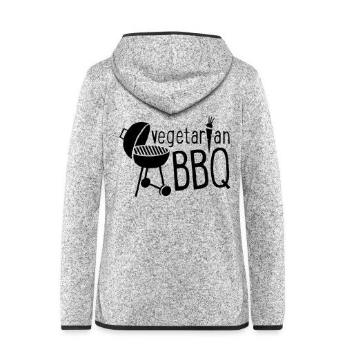 vegetarian bbq - Frauen Kapuzen-Fleecejacke