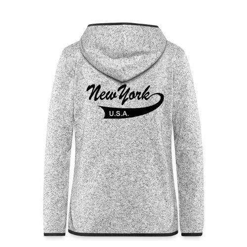 New York USA - Frauen Kapuzen-Fleecejacke
