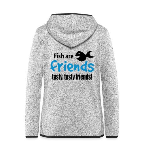 Fisk er venner - Hette-fleecejakke for kvinner