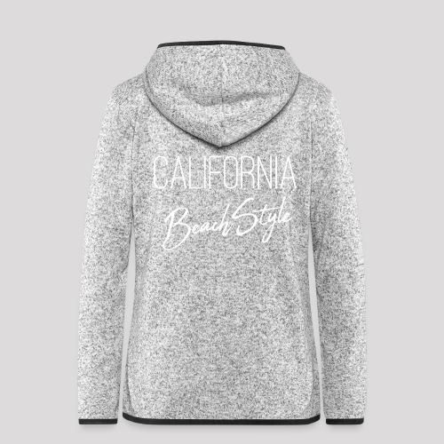 California Beach Style Shirt - Frauen Kapuzen-Fleecejacke
