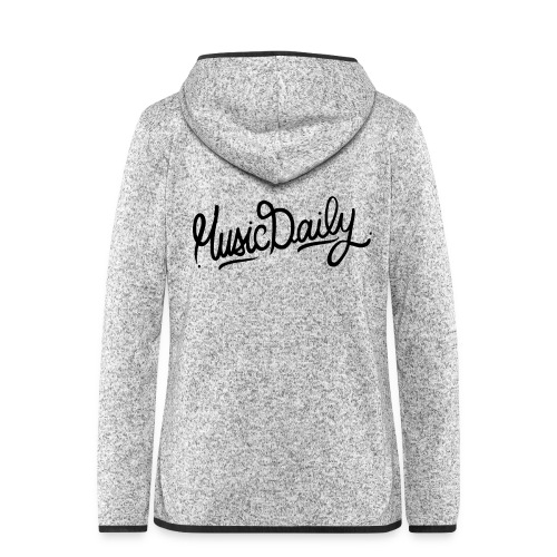 MusicDaily Logo - Vrouwen hoodie fleecejack