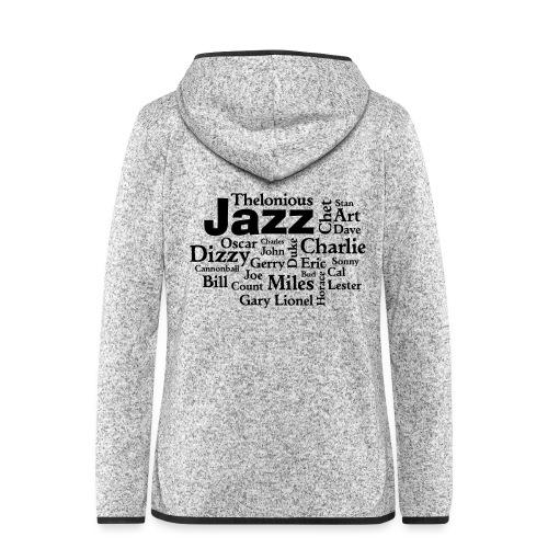 Jazz Greats - Frauen Kapuzen-Fleecejacke