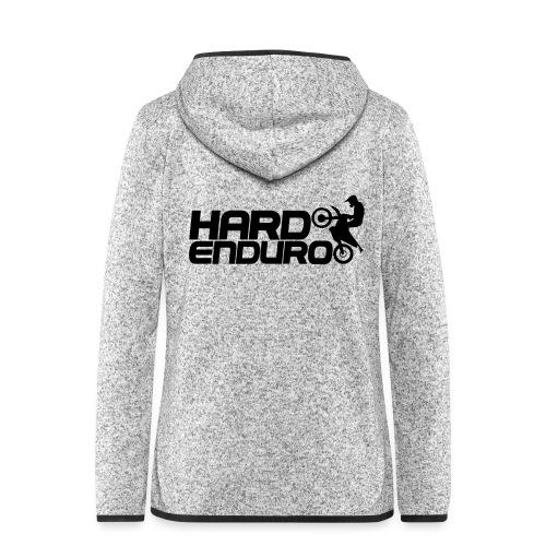 Hard Enduro Biker - Frauen Kapuzen-Fleecejacke