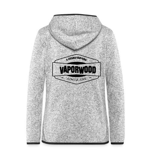 VaporwoodLogo - Frauen Kapuzen-Fleecejacke