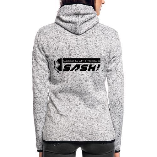 DJ SASH! Turntable 2020 Logo - Women's Hooded Fleece Jacket