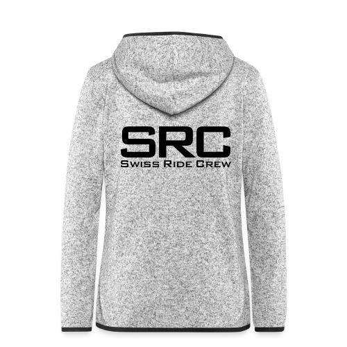 SRC Snapback Schwarz - Frauen Kapuzen-Fleecejacke