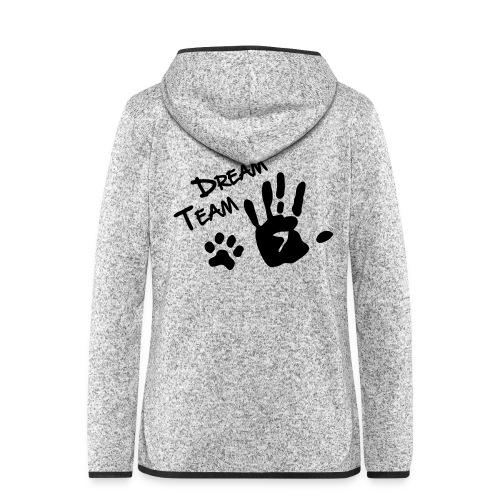 Vorschau: Dream Team Hand Hundpfote - Frauen Kapuzen-Fleecejacke