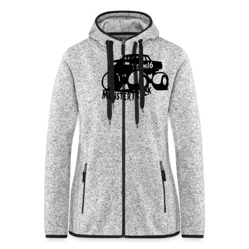 logo mtteam16 noir - Veste à capuche polaire pour femmes