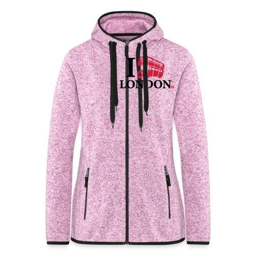 I love (Double-decker bus) London - Women's Hooded Fleece Jacket
