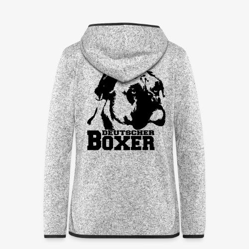 Deutscher Boxer - Frauen Kapuzen-Fleecejacke