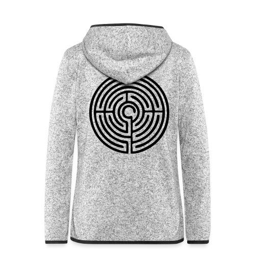 Labyrinth Schutzsymbol Lebensweg Magie Mystik - Frauen Kapuzen-Fleecejacke