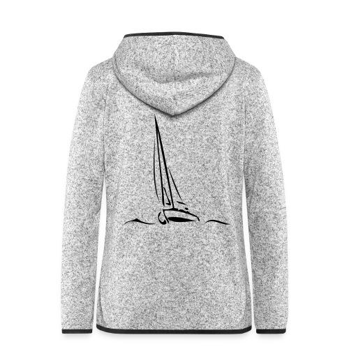 Segelboot - Frauen Kapuzen-Fleecejacke