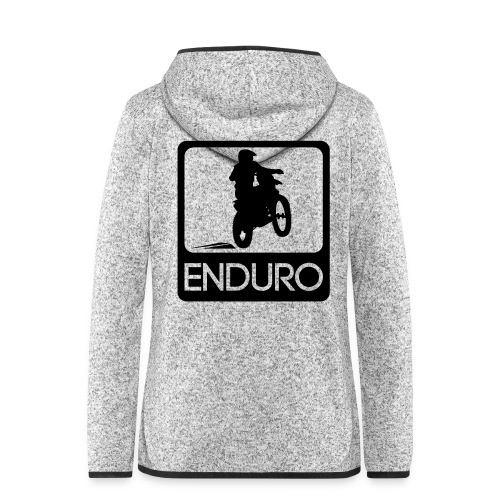 Enduro Rider - Frauen Kapuzen-Fleecejacke