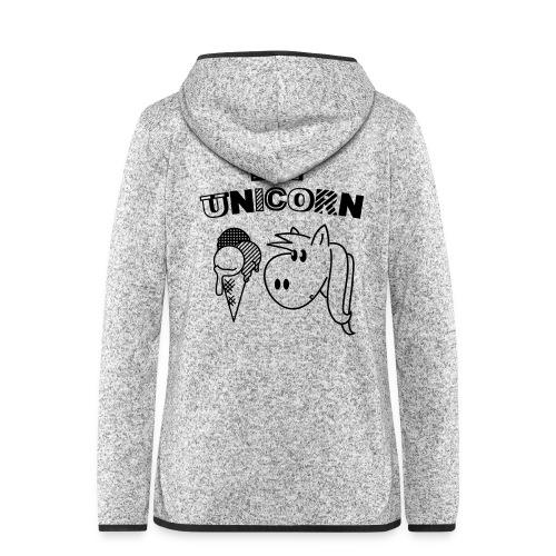 DIY Unicorn Einhorn - Frauen Kapuzen-Fleecejacke