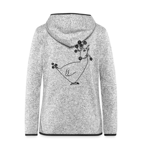Cosmic Chicken - Women's Hooded Fleece Jacket