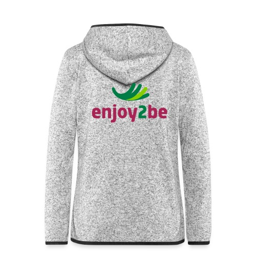 enjoy2be - Frauen Kapuzen-Fleecejacke