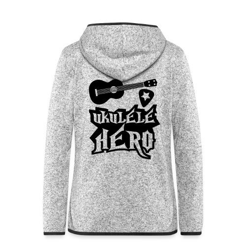 Ukelele Hero - Women's Hooded Fleece Jacket
