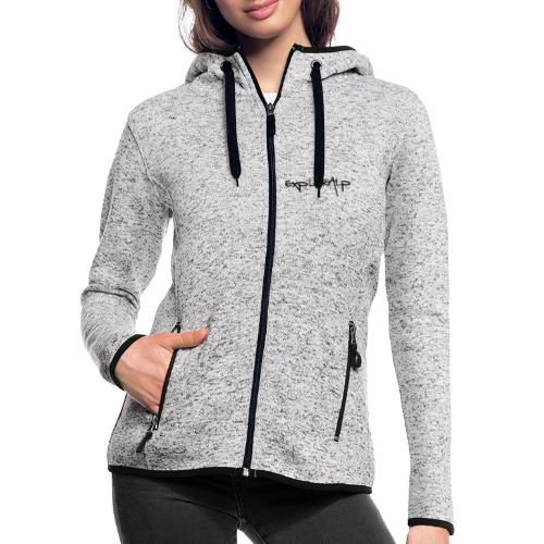 exploralp logo e testo - Women's Hooded Fleece Jacket