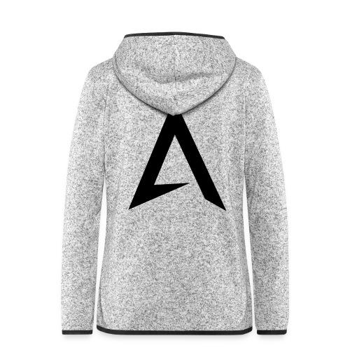 alpharock A logo - Women's Hooded Fleece Jacket