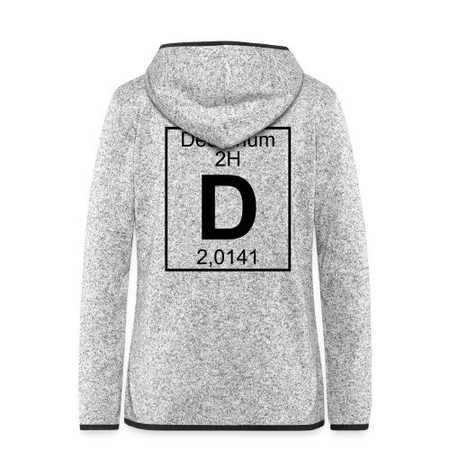 D (Deuterium) - Element 2H - pfll - Women's Hooded Fleece Jacket
