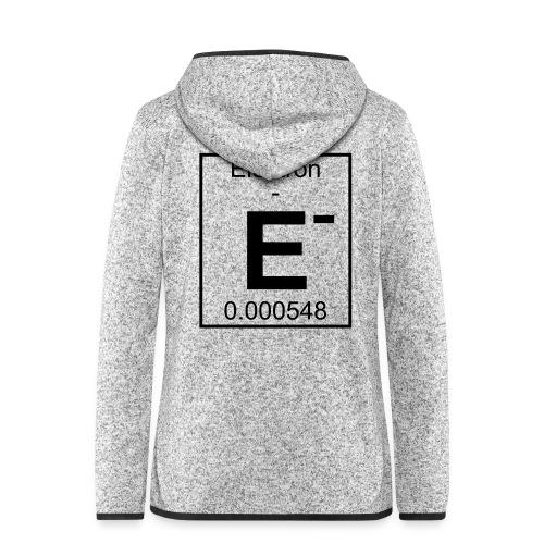 E (electron) - pfll - Women's Hooded Fleece Jacket