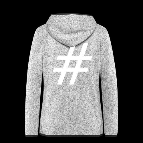 Hashtag Team - Frauen Kapuzen-Fleecejacke