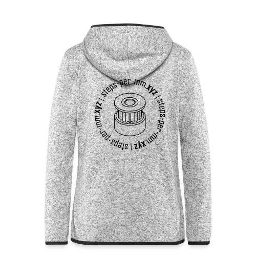 steps-per-mm Round Logo - Women's Hooded Fleece Jacket