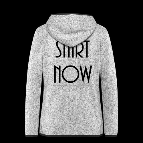 start now - Frauen Kapuzen-Fleecejacke