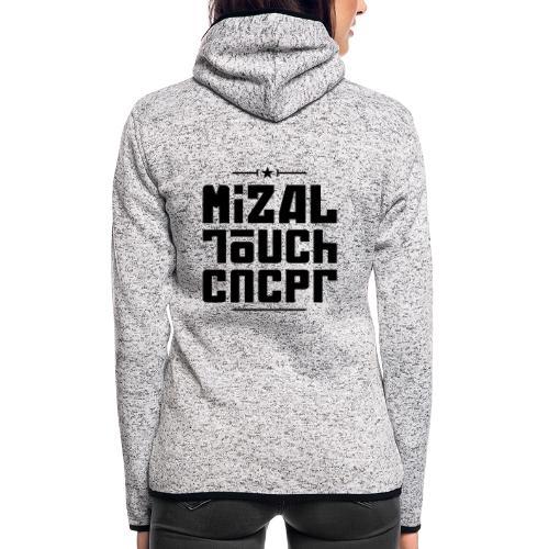 Logo MiZAL Touch Concept - Bluza polarowa damska z kapturem