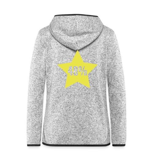 48% in Star - Women's Hooded Fleece Jacket