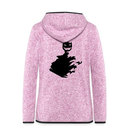 t shirt monster (black/schwarz) - Frauen Kapuzen-Fleecejacke